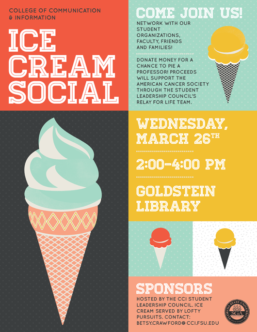 Cci spring ice cream social on march 26 from 2 4 p m for Informative poster template
