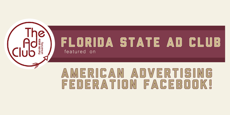 Header image for FSU Ad Club featured on AAF Facebook
