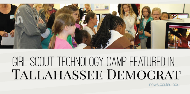 Header image for Girl Scout Camp featured in Tallahassee Democrat