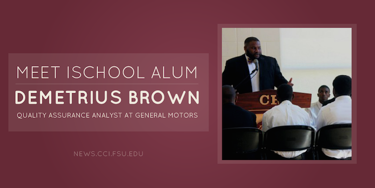 Header image for iSchool Alumnus Demetrius Brown advances from Florida Center for Reading Research to GM