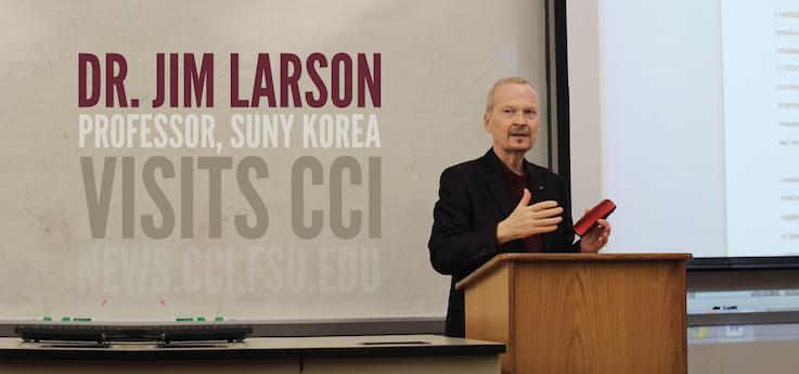 Header image for Dr. Jim Larson of SUNY Korea visits CCI