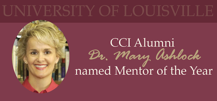 Header image for CCI Alumna Dr. Mary Ashlock named Mentor of the Year