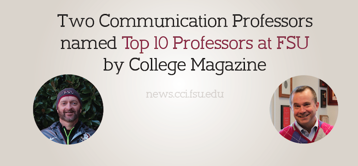 Header image for COMM Professors named Top 10 by College Magazine