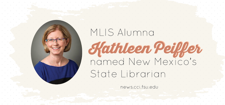 Header image for MLIS Grad named State Librarian of New Mexico State Library