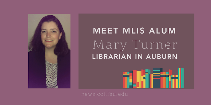 Header image for iSchool Alum Mary Turner transitions from FSU to Auburn Public Library