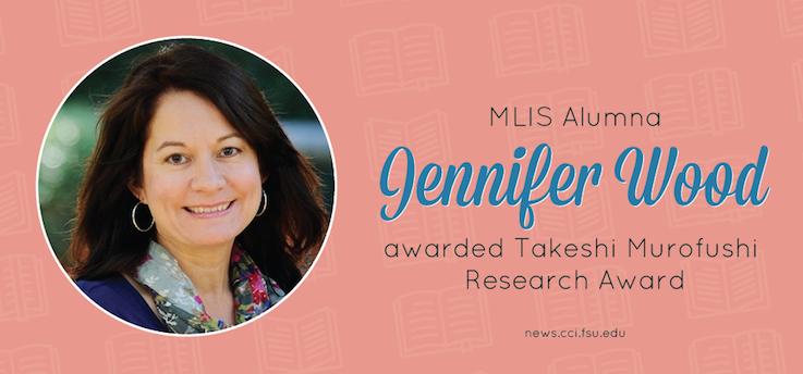 Header image for MLIS Alumna Jennifer Wood Awarded Takeshi Murofushi Research Award