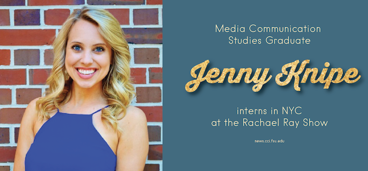Header image for Jenny Knipe interns at the Rachael Ray Show