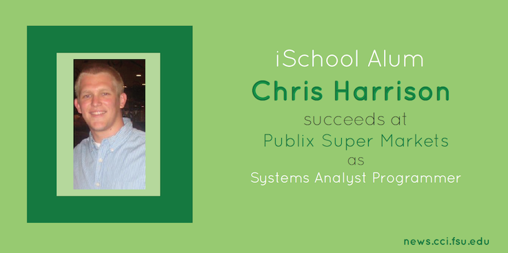 Header image for iSchool Alumnus Chris Harrison succeeds at Publix as Systems Analyst Programmer