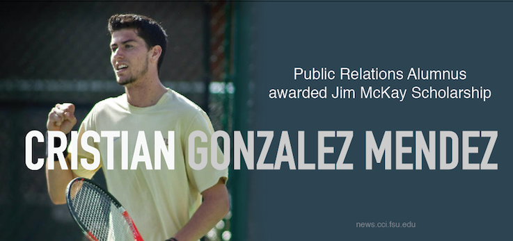 Header image for Public Relations Alum Awarded Jim McKay Scholarship