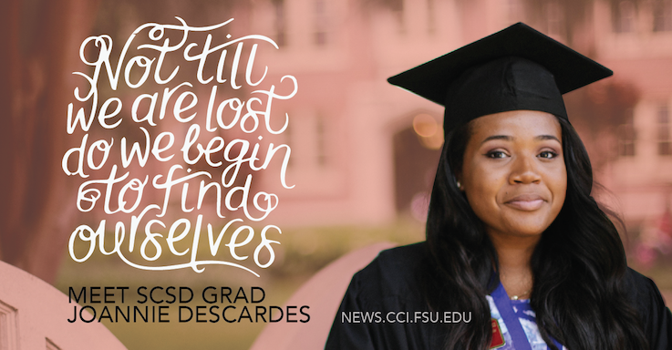 Header image for SCSD Grad Joannie Descardes Takes the Road Less Traveled