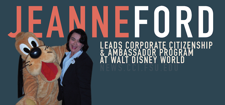 Header image for COMM Alumna Jeanne Ford leads Corporate Citizenship at Disney