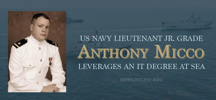 Header image for Lieutenant Junior Grade Anthony Micco Leverages an IT Degree at Sea
