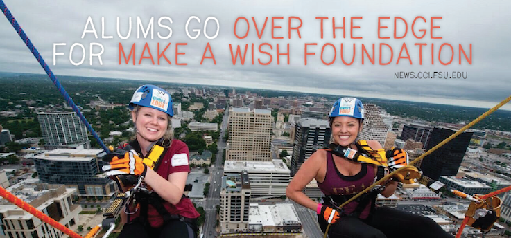 """Header image for 2 FSU Alums Go """"Over the Edge"""" for Make-A-Wish Foundation"""