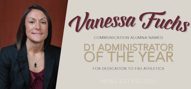 Header image for Alumna Vanessa Fuchs named D1 Administrator of the Year