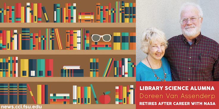 Header image for Library Science Alum Doreen van Assenderp Retires After Career with NASA