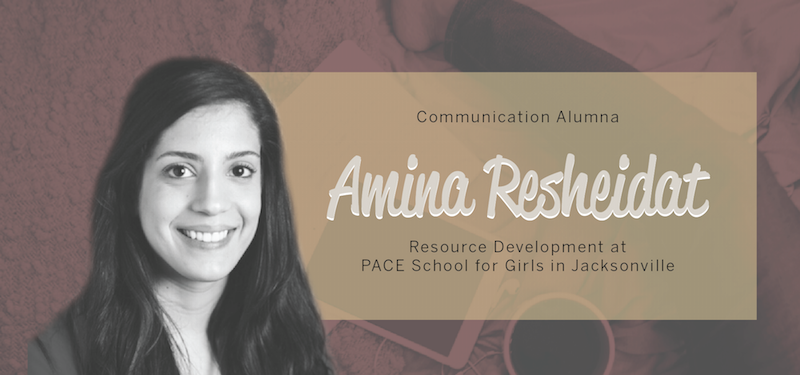 Header image for Alum Amina Resheidat Employs Communication Skills at PACE Center for Girls