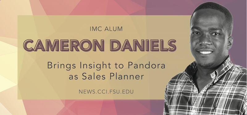Header image for Alum Cameron Daniel Brings Insight to Pandora as Sales Planner