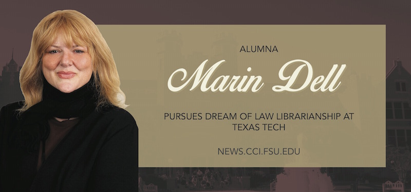 Header image for Alumna Marin Dell Pursues Dream of Law Librarianship at Texas Tech