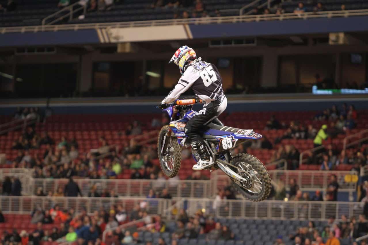 Josh Cartwright on a motorbike