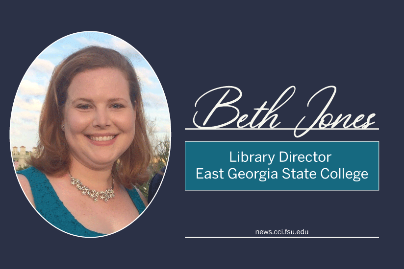 Beth Jones, Library Director, East Georgia State College - Graphic