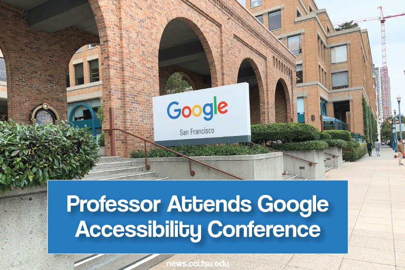 Michelle Therrien attends Google conference - graphic