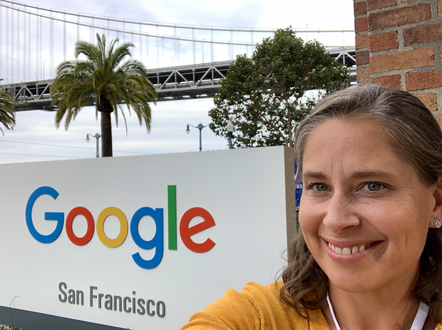 Michelle Therrien at the Google office in San Francisco.