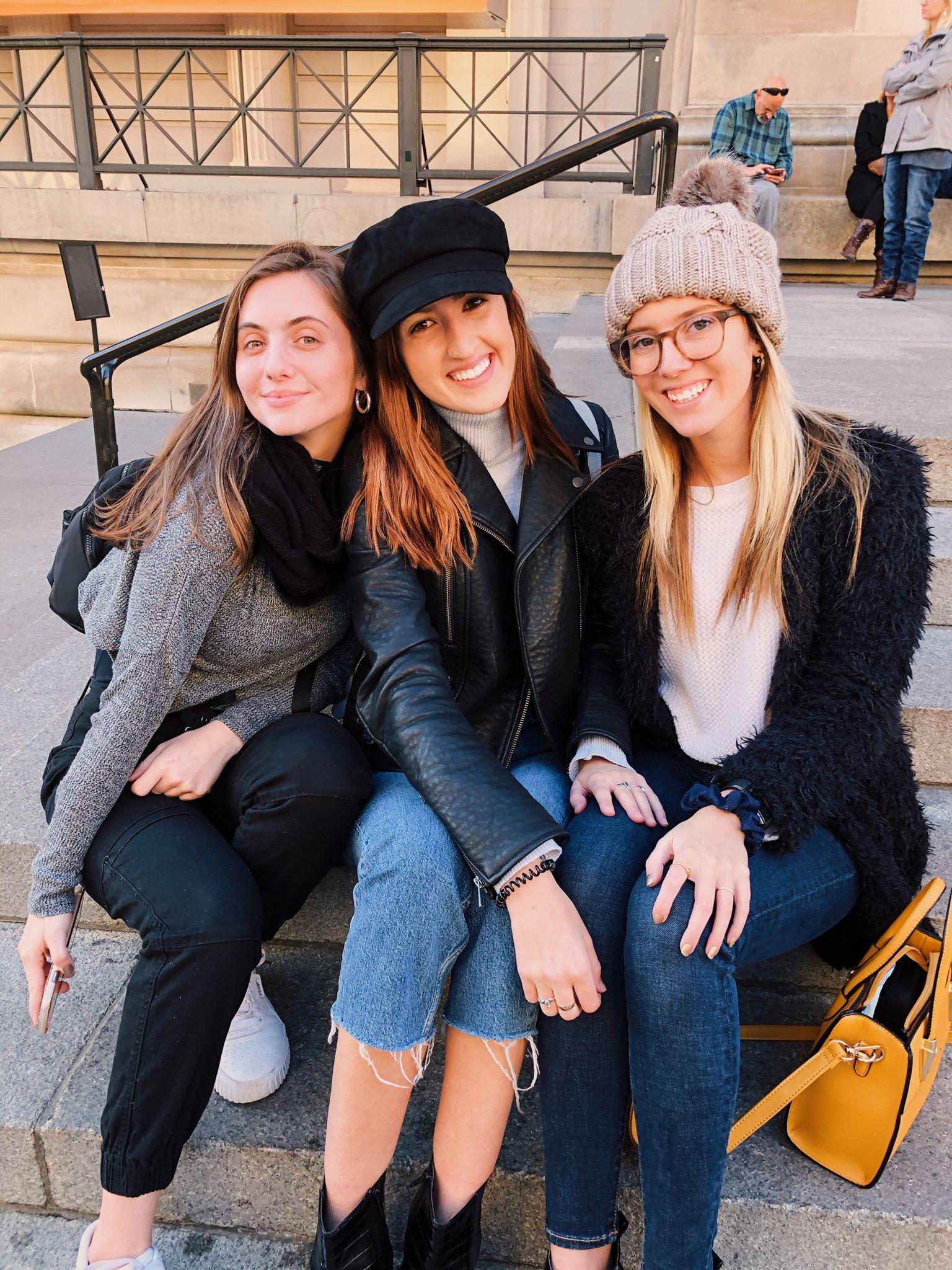 Members of FPRA on the steps of the Metropolitan Museum