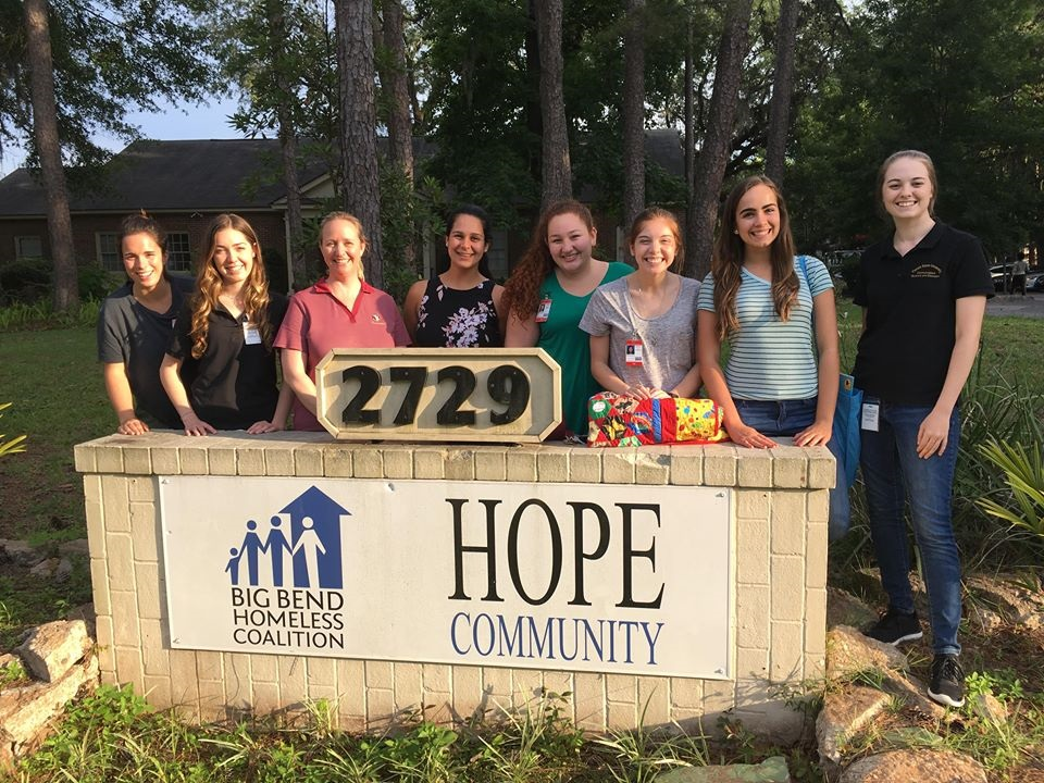 NSSLHA students in front of HOPE Community Center.