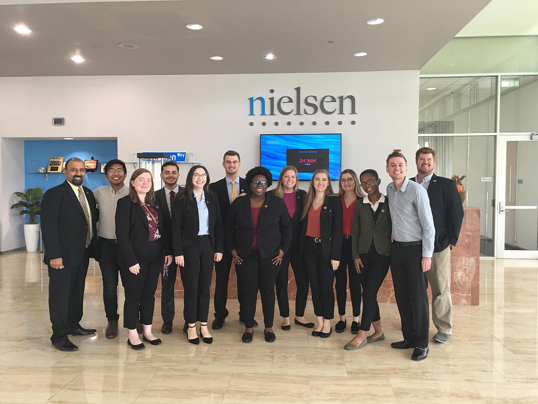 Students visit Nielsen in Tampa