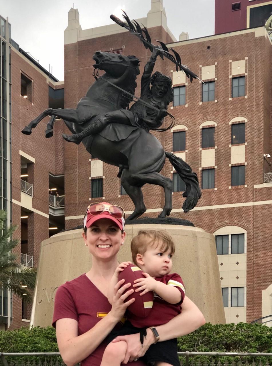 Erin Vogt with son Emmett
