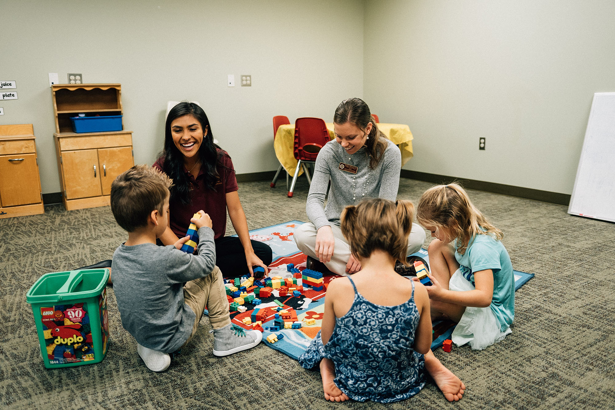 SCSD graduate students work with children
