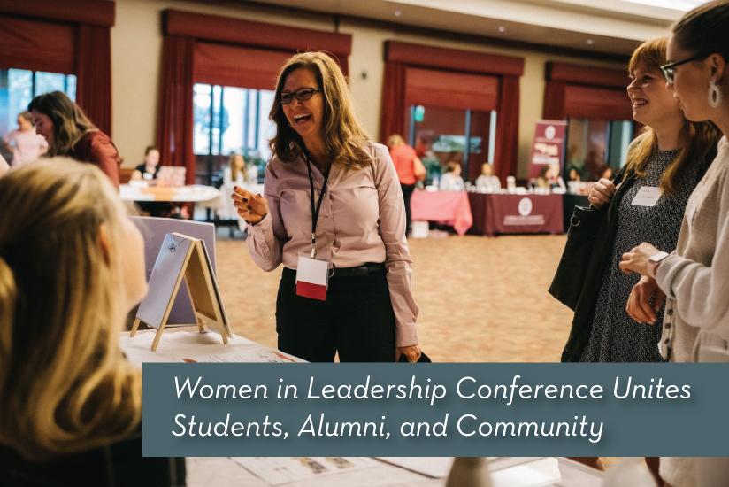 Women in Leadership recap story graphic