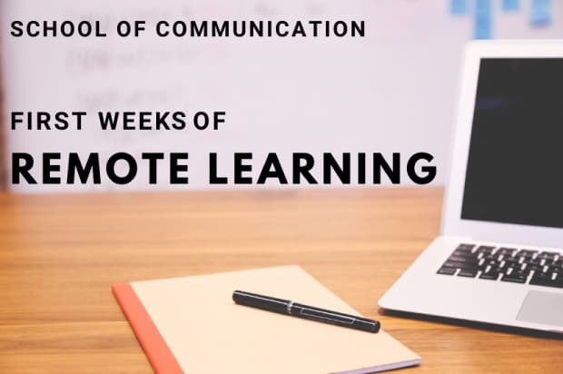 SCOM first weeks of remote learning graphic