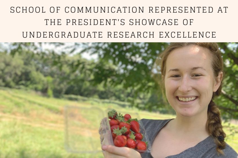 graphic for president's showcase of undergraduate research