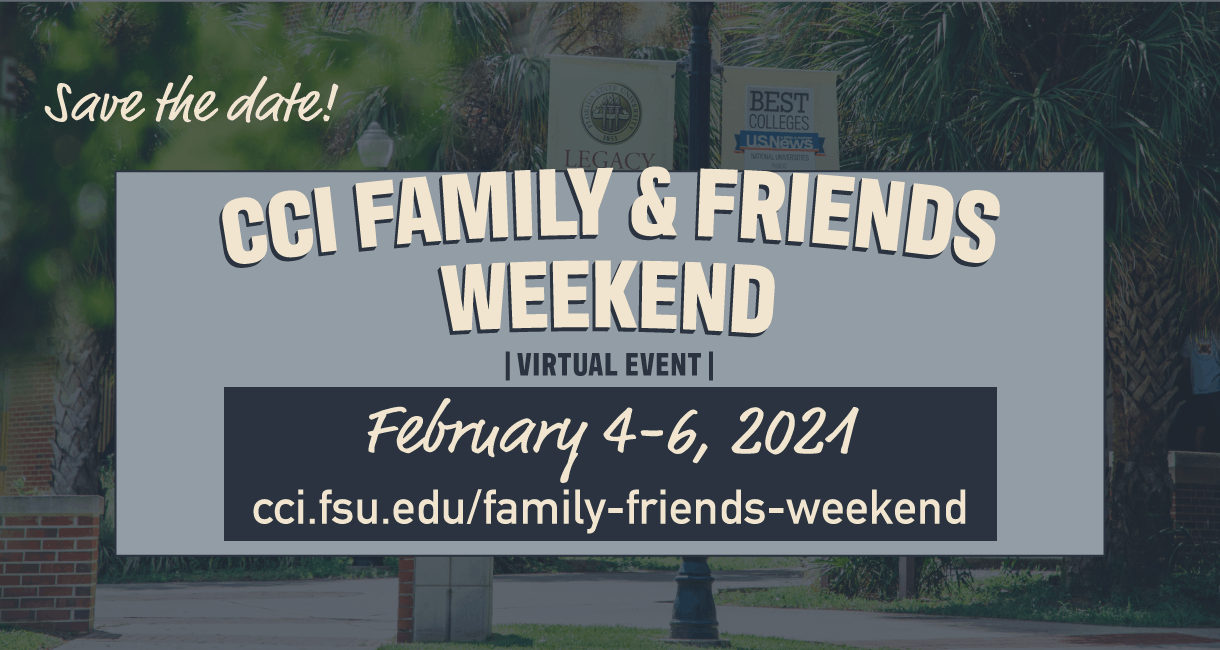 cci family and friends weekend graphic