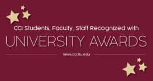 University awards graphic