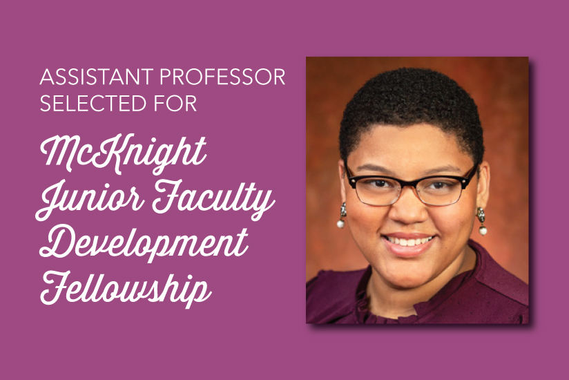 featured graphic for arienne ferchaud mcknight fellowship story