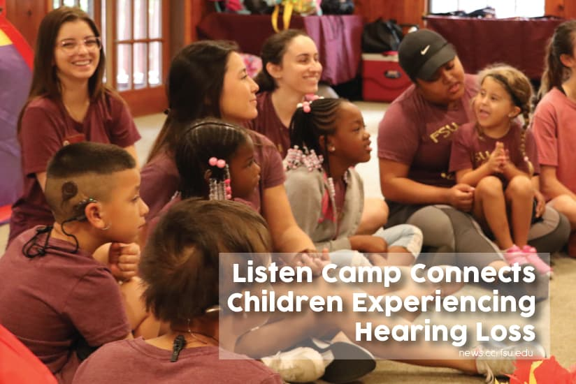Listen Camp Connects Children Experiencing Hearing Loss - Graphic