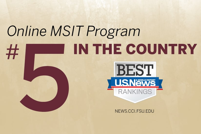 graphic for MSIT ranked 5th in the country
